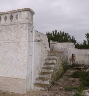 Steps and ballustrad