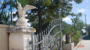 At entrance gates