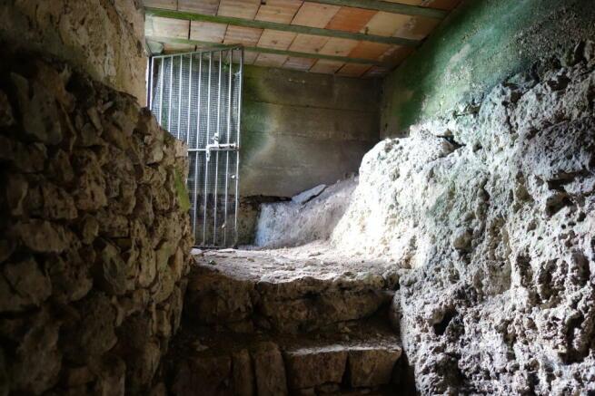 The cellar entrance