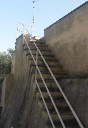 Stairs to roof