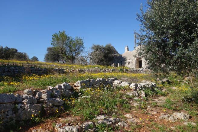 View up the trullo