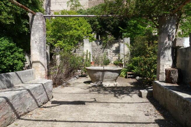 300 year stone bench