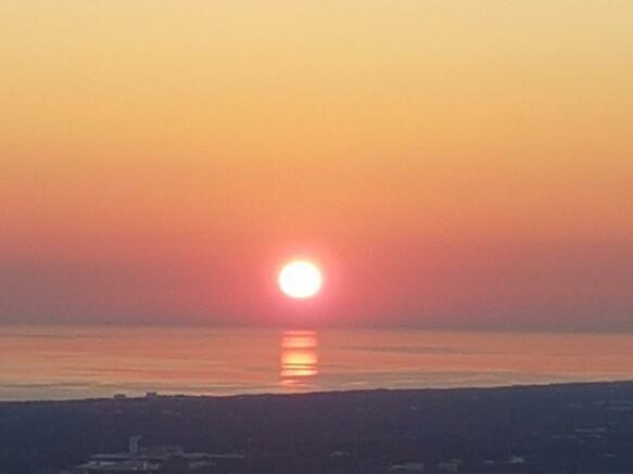 Sunrise frm the sea