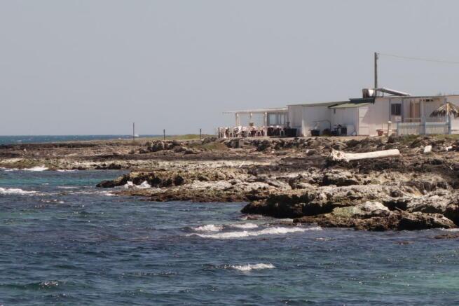 View to beach club