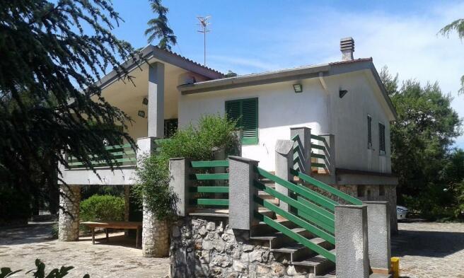 Villa and balcony