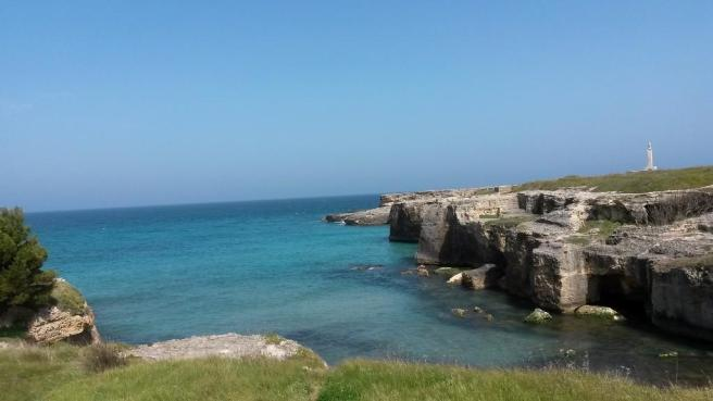 A rocky bay
