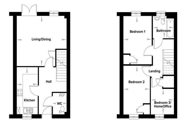 3 Bedroom House Floor Plans
