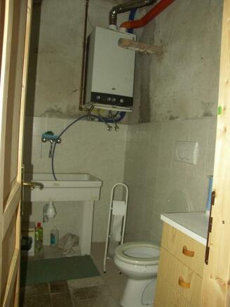 down toilet