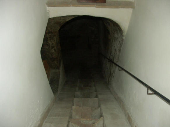 to the cellar