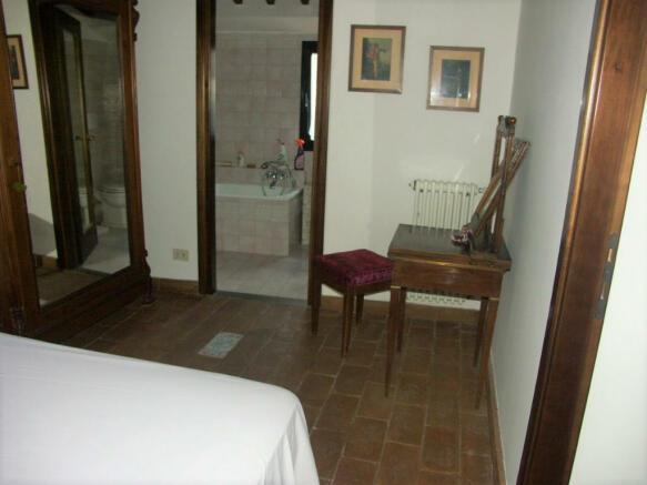 bedroom and bathroom
