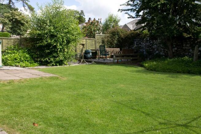 Rear garden and s...