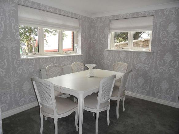 Dining area within the sitting room