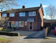 3 bed semi detached home for sale in Greenfield Road, Waverton