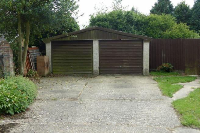 Single garage and parking