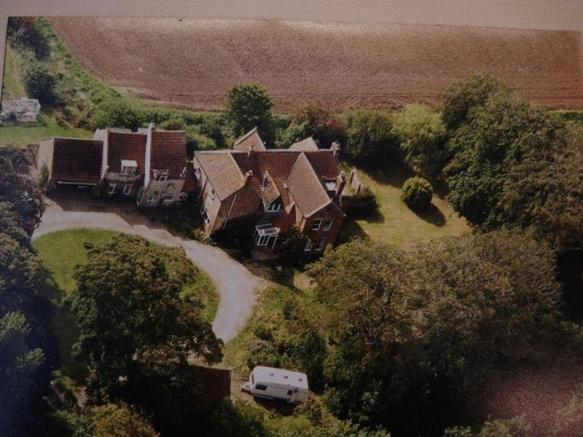 An aerial view