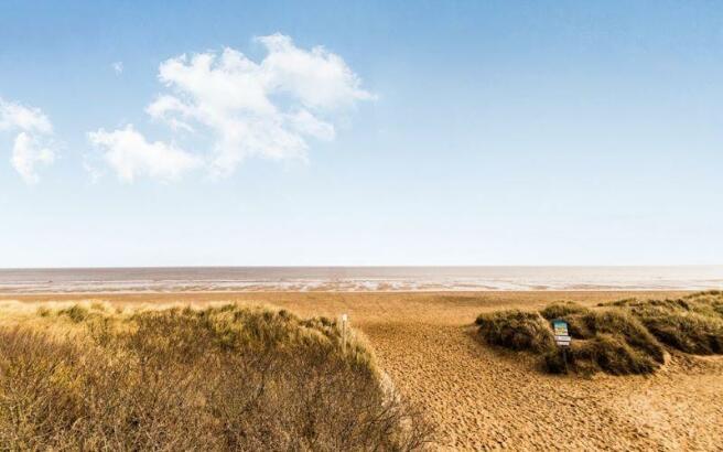 Photograph of beach a few minutes walk away.