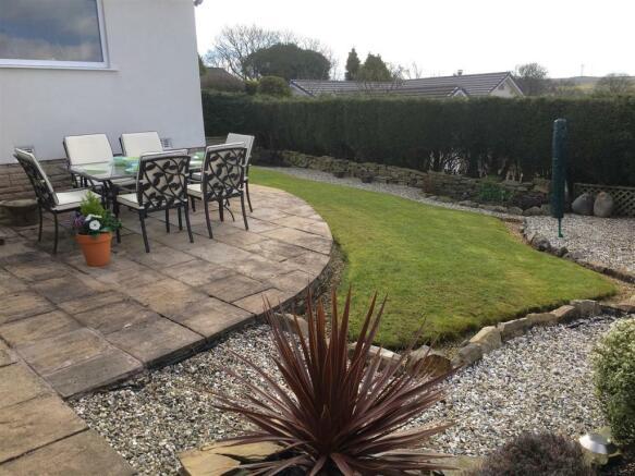 Rear patio, garden a