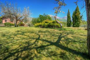 Villa and mountains