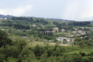 View over valley
