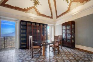 Frescoed salon