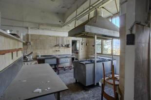 Present kitchen area