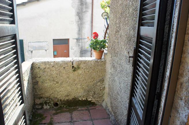 Stone balcony