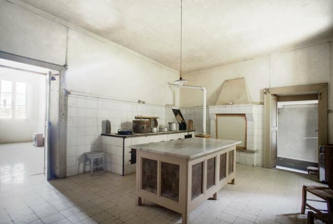 The antique kitchen