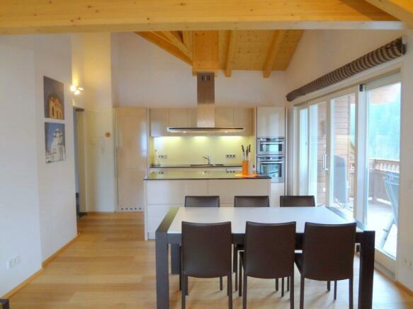 dining area +kitchen