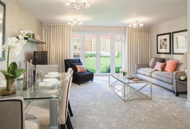Oakfield living room/ dining area