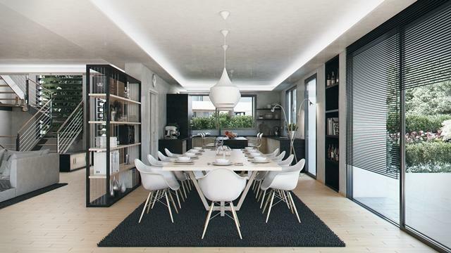 Villa type C - Dining area