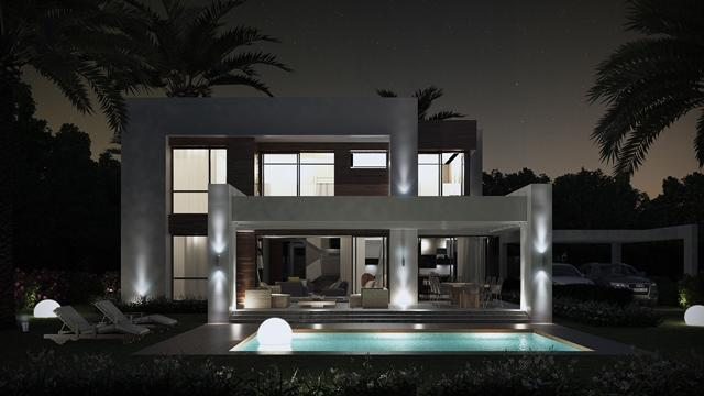 Villa type C - Night time