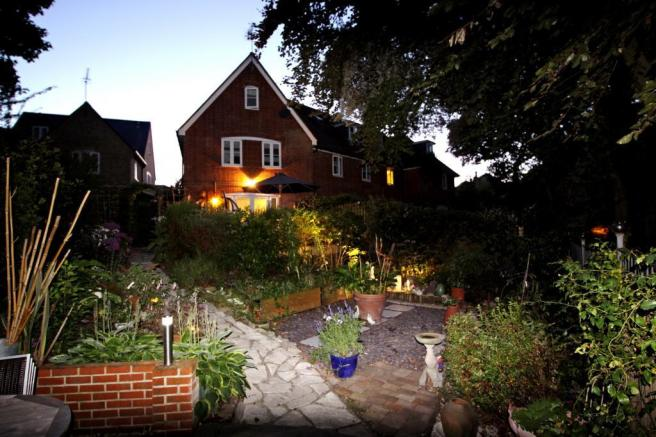 Rear of House at Night