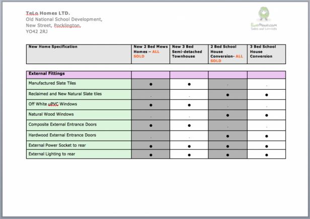 Spec Sheet 1