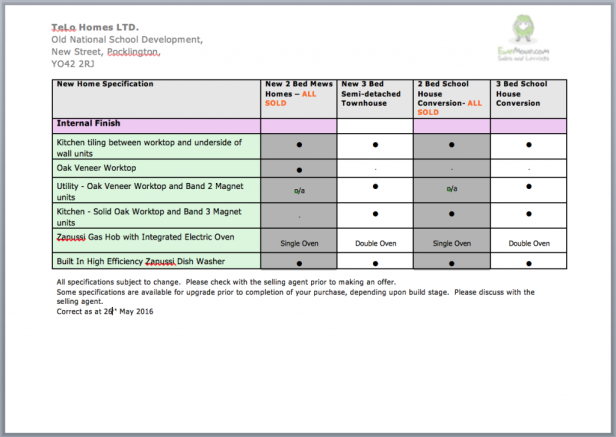 Spec Sheet 4