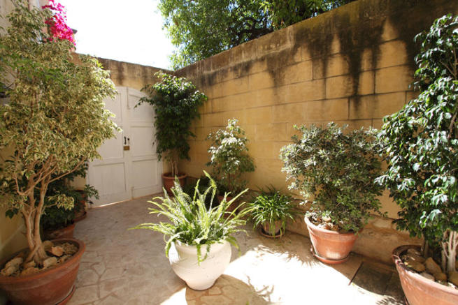 Welcoming courtyard