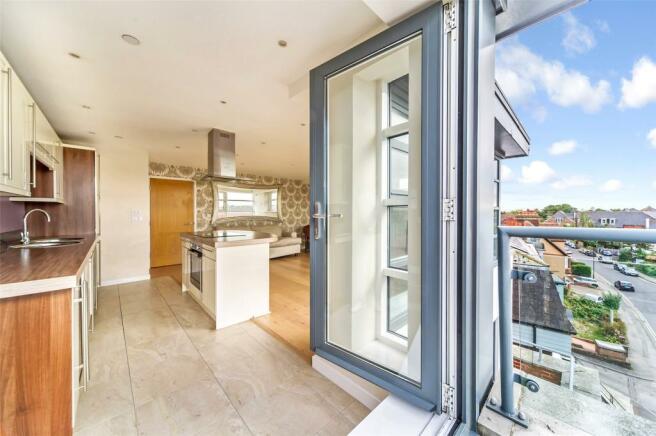 Balcony View/Kitchen