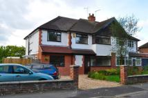 semi detached house in Crossley Crescent, Hoole...
