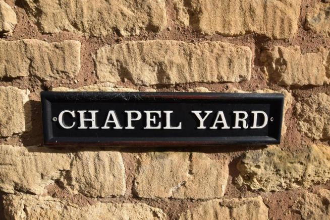Chapel Yard Sign
