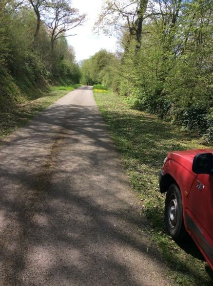 Road outside house