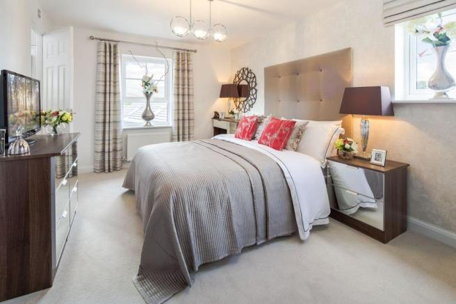 Typical Lincoln master bedroom