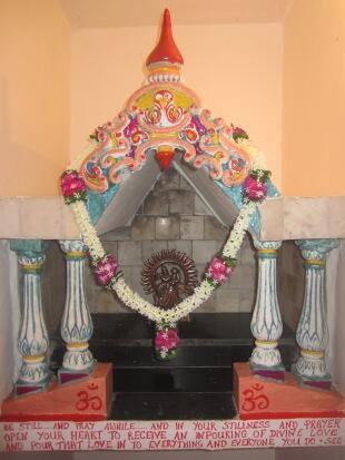 shrine under stairs