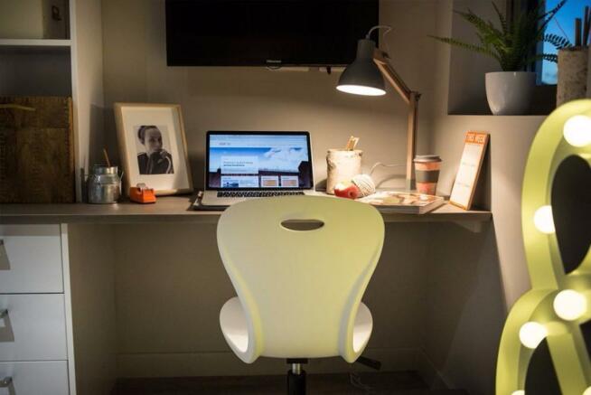 Large desk spaces