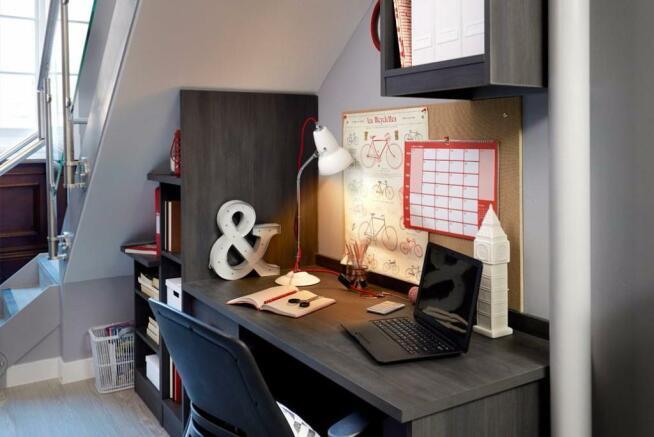 Spacious desks