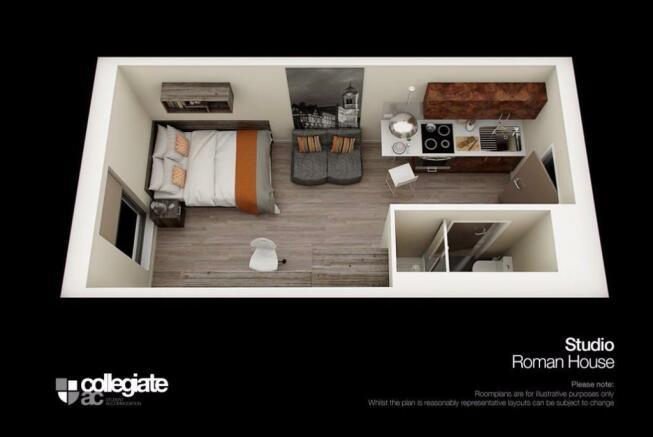 Studio room plan