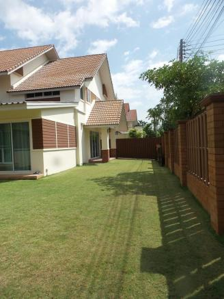 Garden and fence
