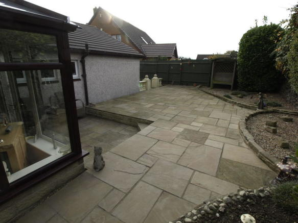Large rear patio
