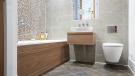 Stylish designer bathroom full height tiling