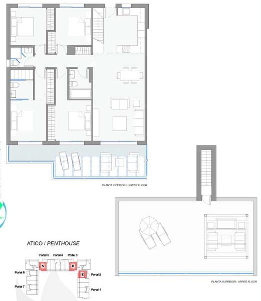 4 bed ph plan