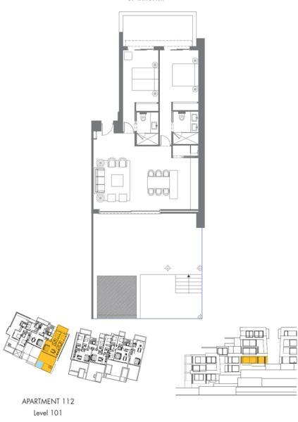 floor plan 2 bed