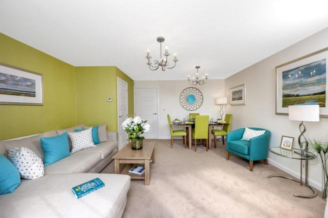 The Barwick living/dining room at Bishop Park, Henfield